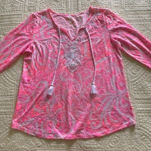 Lilly Pulitzer GUC SIZE M tassel top